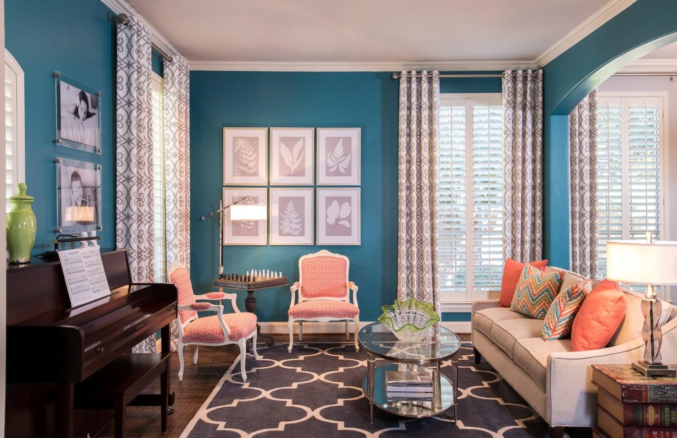 McClintock - Living Room 12 - Dallas Interior Designer serving Plano, Frisco, Dallas, Allen for Decorating Den Interiors D'KOR HOME by Dee Frazier Interiors