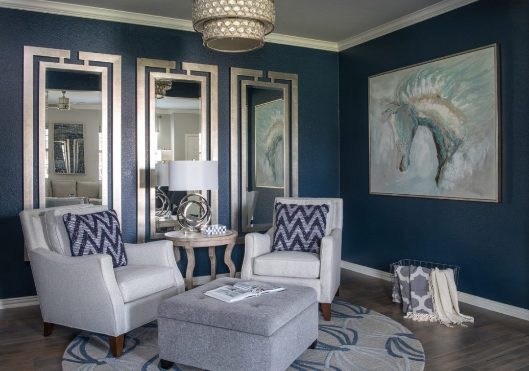Transitional Sitting Room- Condo Living