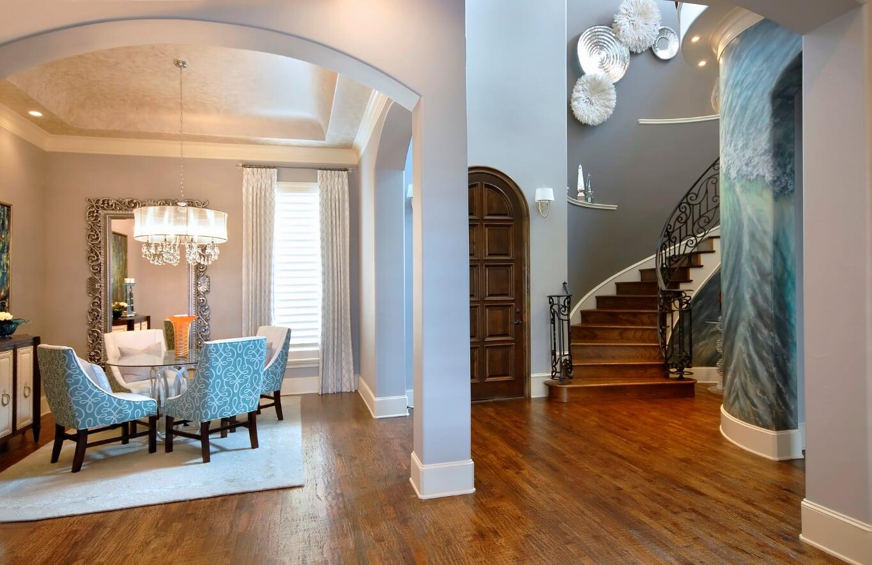 Aqua, Teal, dining room chairs, dining room design idea