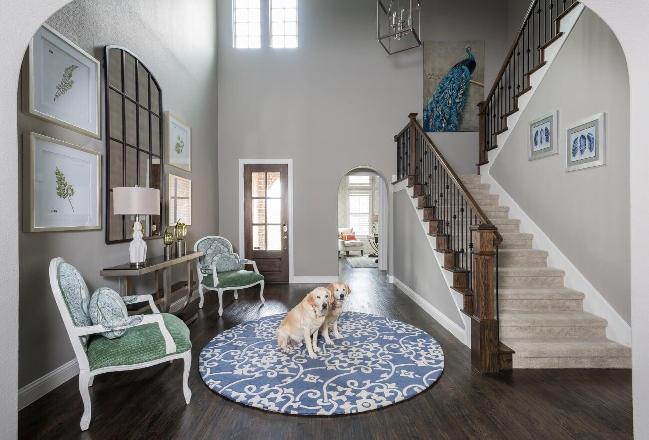 Trisdale - Foyer 2 - Dallas Interior Designer serving Plano, Frisco, Dallas, Allen for Decorating Den Interiors D'KOR HOME by Dee Frazier Interiors