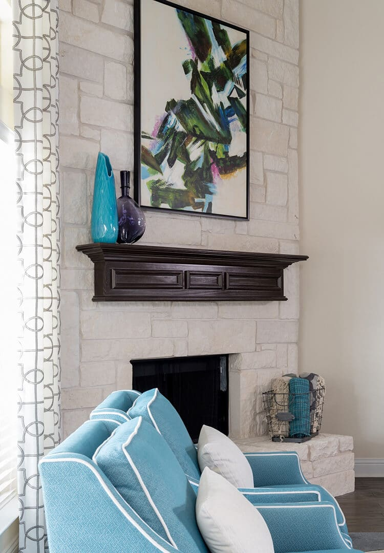 Blue & Gray Modern Living Room Decorating Ideas by Dee Frazier Interiors Decorating Den Interiors the best Dallas Interior Designer