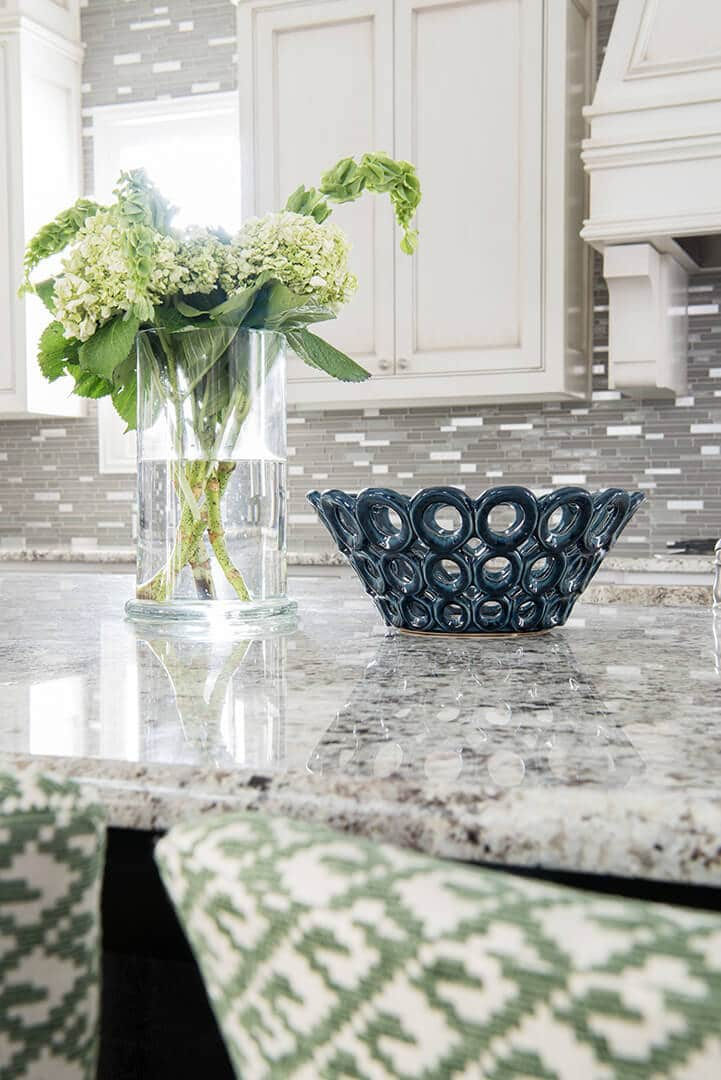 Cream Cabinets with Green Accents Kitchen Design Ideas | Kitchen Renovation | Dallas Interior Designer | Dallas Kitchen Designer