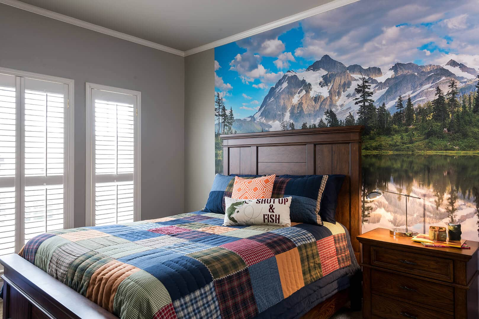 Boys Lake Room Decorating Ideas With Mural by Dee Frazier Interiors Decorating Den Interiors the best Dallas Interior Designer