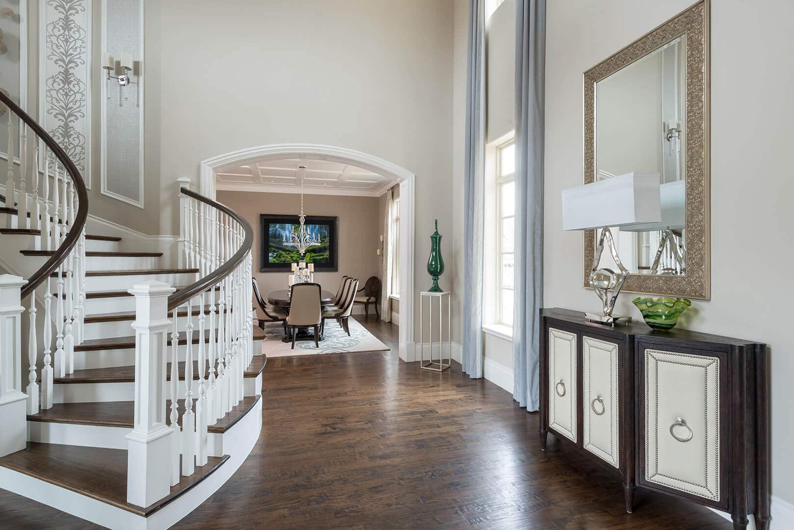 Neutral Foyer Decorating Ideas | Dallas Interior Designer by Dee Frazier Interiors Decorating Den Interiors the best Dallas Interior Designer
