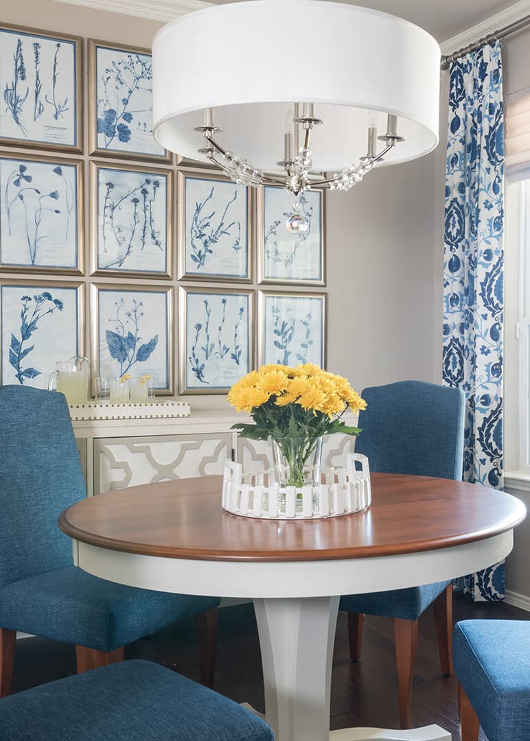 Blue & White Dining Room Decorating Ideas | Dallas Interior Designer | Dallas Interior Decorator